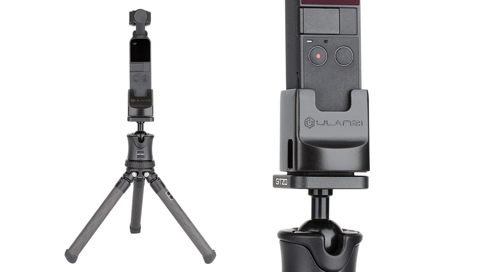 Ulanzi OP2 Gimbal Accessories for Dji Osmo Pocket Vertical Gimbal Base Holder Fixed Mount 1/4 Screw USB Charging Port Type-C 3