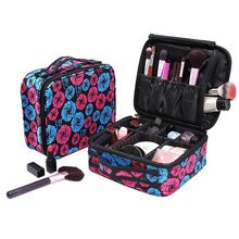 hot deal buy new portable women fashion makeup cosmetic bag suitcase toiletry cosmetic case organizer travel necessary beauty tool storage