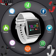 LIGE Fashion Sports Watch Blood Pressure Sleep Monitoring Sports Distance Record IP67 Waterproof Smart Bracelet For Android iOS