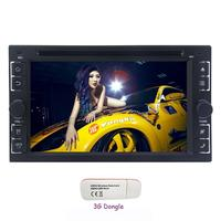 3G Dongle + 2 Din Car Stereo Android 6.0 Car DVD Player 6.2'' In dash GPS Navigation Support Bluetooth WiFi AM/FM Radio/OBD2/SWC