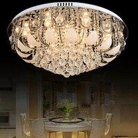 Moderna del envío libre Led home luz de cristal lámparas de techo de cristal de lujo superficie lustres de cristal luces de techo sala de estar