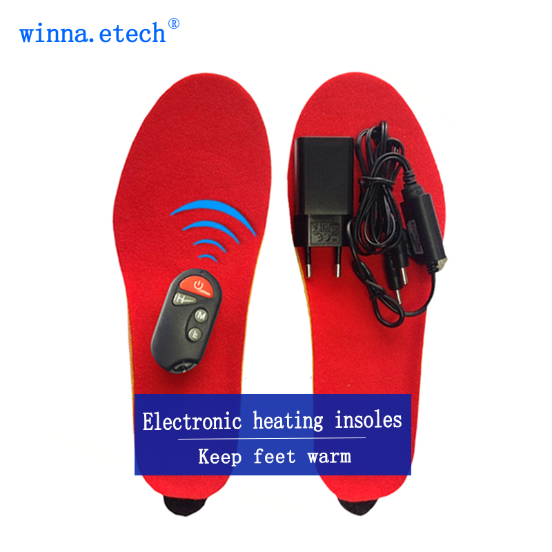 Heated Insoles Winter Men Women Heated Shoe Inserts usb Charged in China factory production size 35-40#