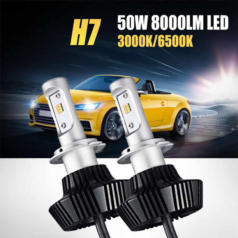 2X H4 Car Headlight Led Bulbs Dual Color Yellow White 12V LED Headlight Lamps UK