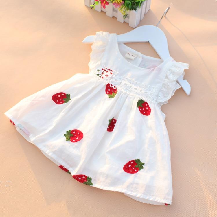 Baby Girl Dress Baby Summer Embroidery Flower Cotton Dress Baby Girl Clothes Newborn Girl Birthday Princess Dress