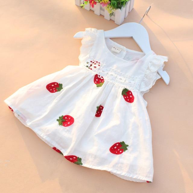 d3bb5037d Vestido de bebé niña bebé verano bordado flor algodón vestido bebé niña  ropa recién nacido cumpleaños