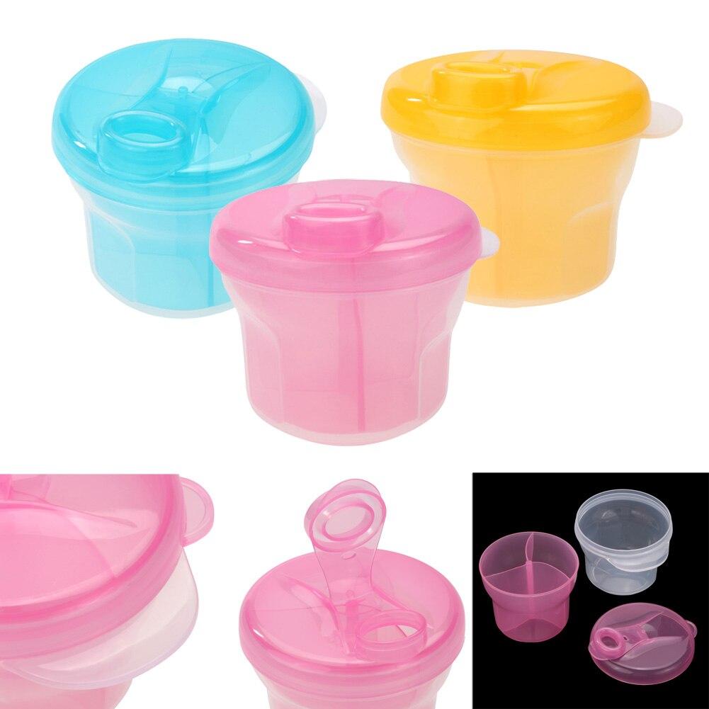 Portable Baby Infant Milk Powder Formula Dispenser Container Feeding Box 3 Layer