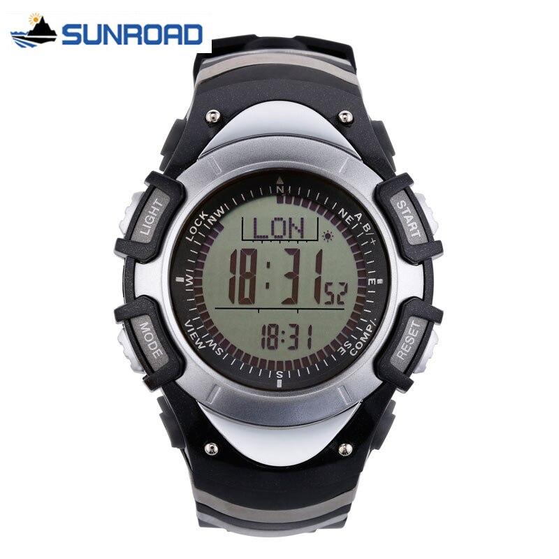 SUNROAD Women Sport Wrist Watch w/Altimeter+Barometer+Compass+World Time+Stopwatch Military Clock Waterproof Relogio Feminino