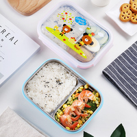 New Fashion Kids Baby Service Plate 700ML Children Student School Bento Box Outdoor Activity Picnic Lunch Box Baby Plate Dishes