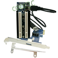 Free Shipping Converter PCIe X1 X4 X8 X16 To Dual PCI Slots Adapter Pci Express To