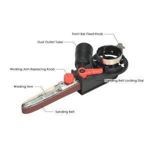 """Image 2 - Açı öğütücü Mini DIY zımpara zımpara kayışı adaptörü taşlama makinesi Bandfile kemer kafa zımpara 115mm 4.5 """"ve 125mm 5"""""""