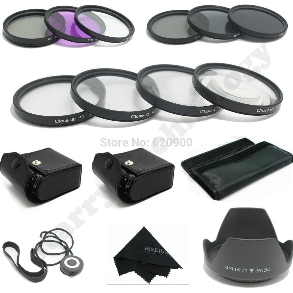 100% garantie 67 MM Macro gros plan + UV CPL FLD/ND 2 4 8 Kit de filtre pour Canon et NIKON DSLR 15-85 MM 18-200 MM 28-135 MM