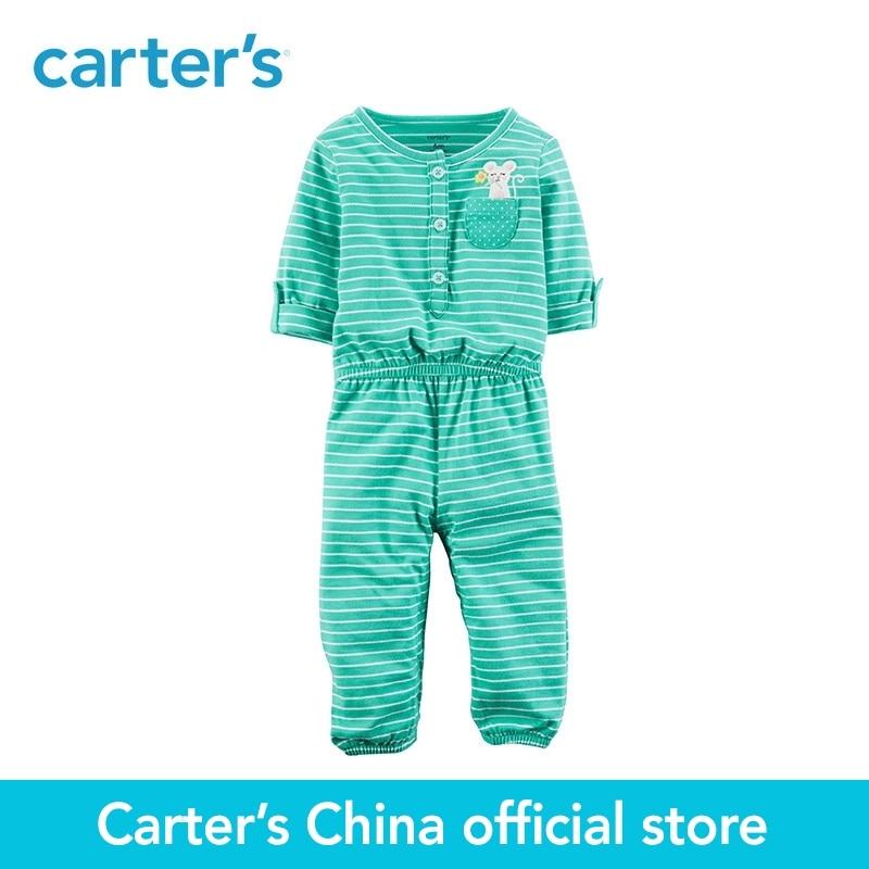 Carters/1 из 2 предметов для маленьких детей детская одежда девушка сезон: весна–лето вышитые комбинезон 118H952
