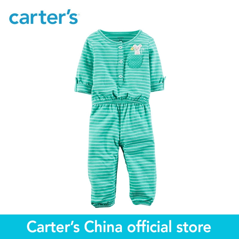 Carter's 1-Piece baby children kids clothing Girl Spring Summer Embroidered Jumpsuit 118H952