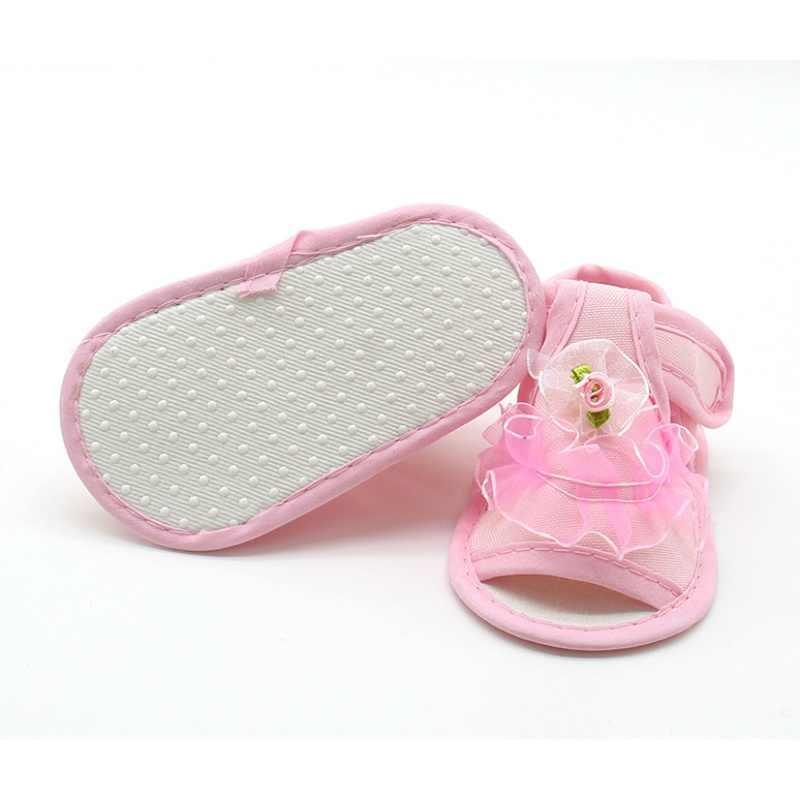 Roze Wit Rood Baby Meisje Kant Bloemen Sandalen Katoen Stof Vrouwelijke Sandalen Meisje Zomer ShoesFlowers Sandalen Nieuwe
