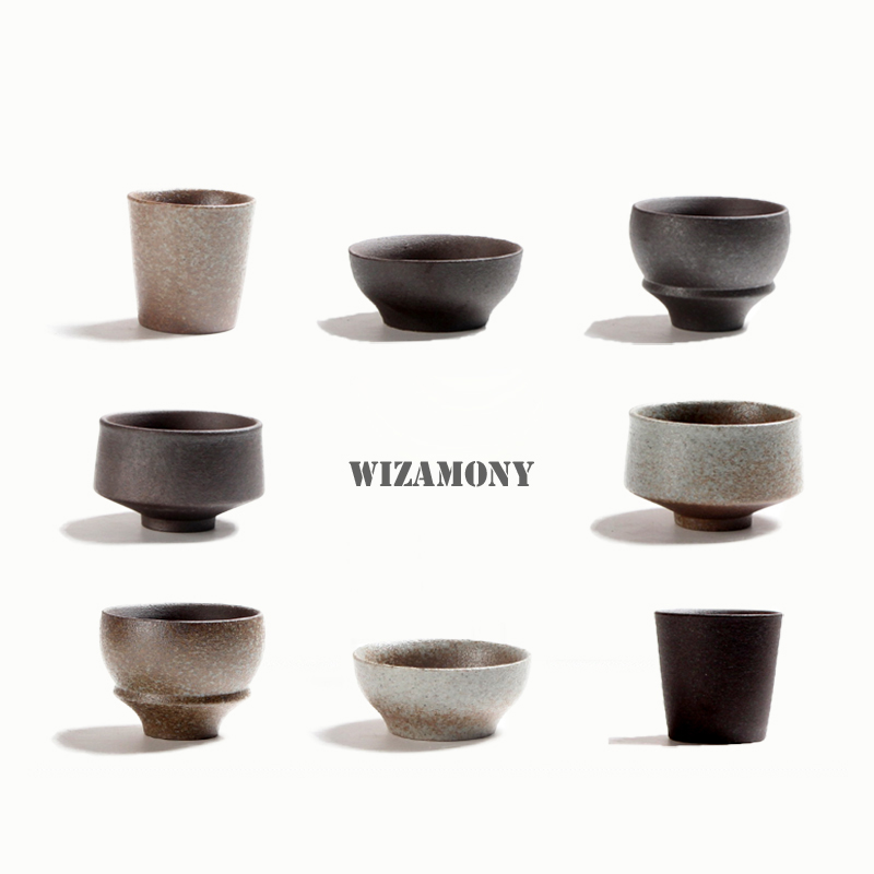 Ancient Rustical Pottery Gong Fu Tea Cups