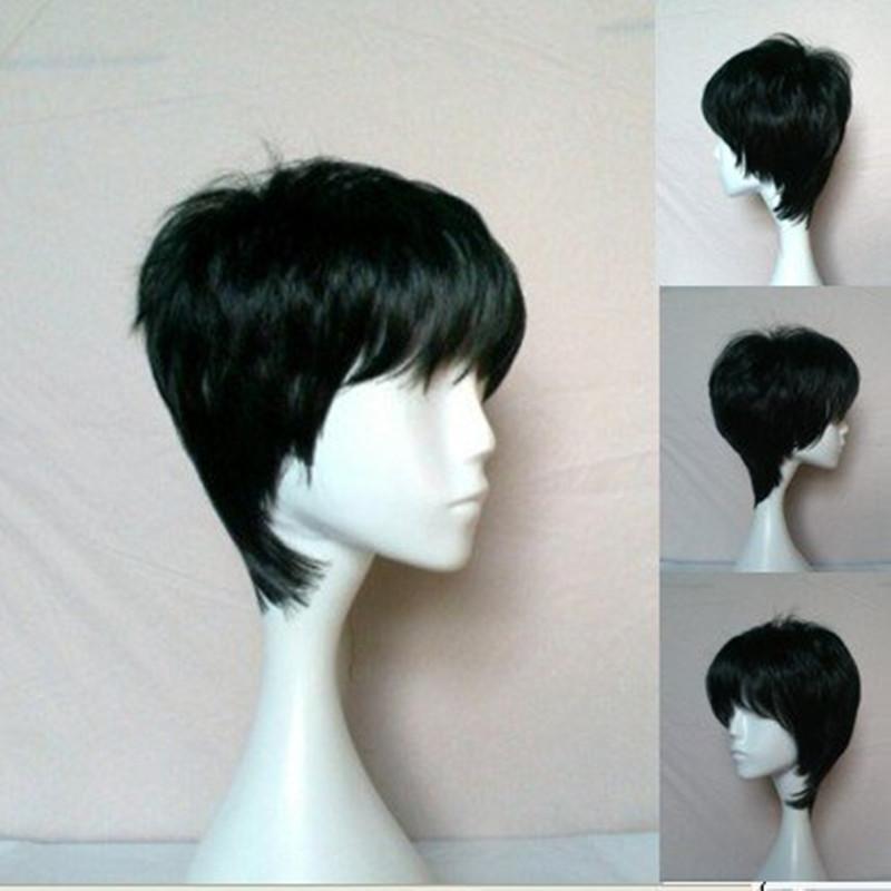 hairjoy черный цвет короткие прямые синтетические дам ' мода сексуальные парик волос/парики для dailiy жизни