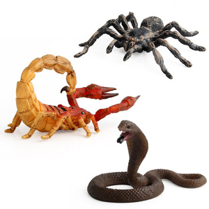 Image 4 - Simulation Cobra/Mantis/Spider Figure Collectible Toys Solid Insect Animal  Soft Rubber Toys
