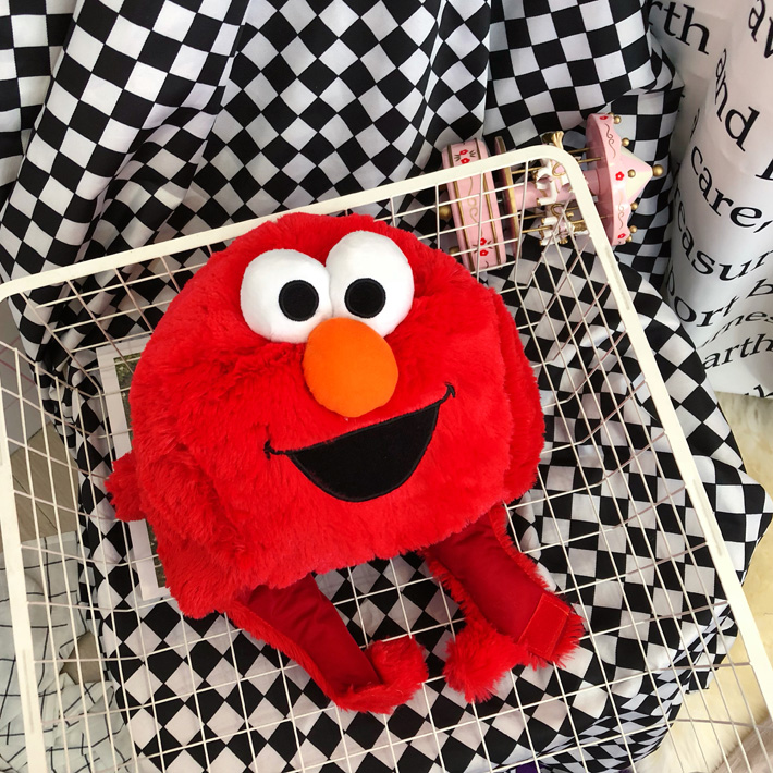 High Quality Sesame Street Elmo Cookie Monster hat cap Soft Plush Toy Dolls stuffed toys figure A gift for a child in Movies TV from Toys Hobbies