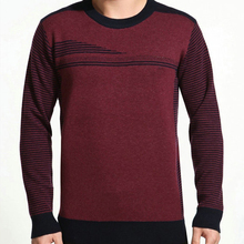 Men Hot Autumn Winter Casual Sweaters Full Sleeve High Quality Slim Pullovers Patchwork All-Match Slim O-Neck Cozy Swearters