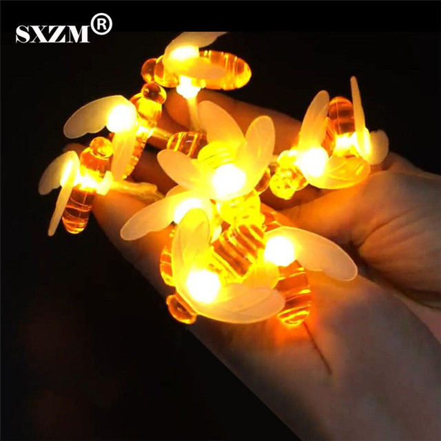 battery powered indoor lighting. SXZM 1.2M Or 2.2M Cute Bee LED Novelty Fairy String Light AA Battery Powered Indoor Lighting