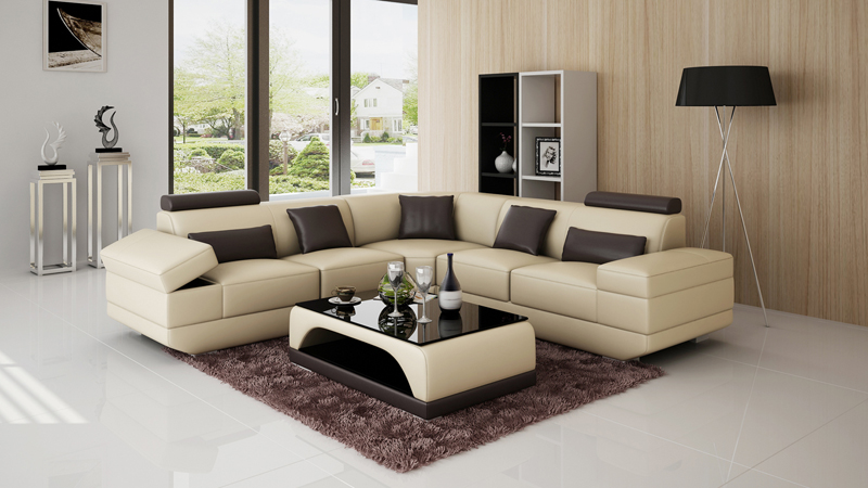 New design large comfortable fabric sofa set living room ...