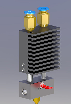 ZONESTAR Parts Extruder - 2 In1 Out Hotend