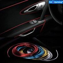 3M 5M Car Styling wnętrze zewnętrzne paski dekoracyjne naklejki dla Ford Focus 2 3 4 mondeo ecosport Fiesta akcesoria samochodowe