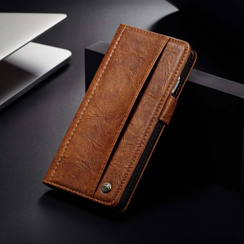 Original CaseMe Brand Leather Case Buttons Flip PU Leather Hold Card Phone Case Cover For iphone 7plus Mobile Phone Case JS0571