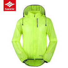 2017 Santic Mens Breathable Cycling Raincoat Waterproof MTB Mountain Road Bike Jerseys Anti-UV Quick Dry Jacket Bicycle Clothing