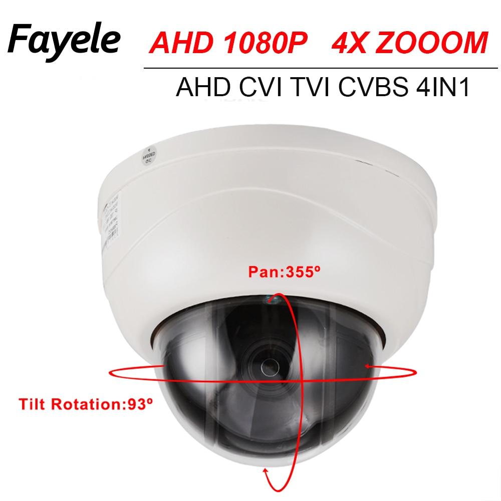 CCTV Sécurité 2.5 MINI PTZ Caméra Dôme AHD 1080 P CVI TVI CVBS 4IN1 SONY IMX323 2.8 ~ 12mm Objectif Motorisé 4X ZOOM Pan Tilt IR 40 M