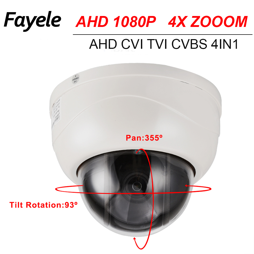 CCTV Security 2.5 MINI PTZ Dome Camera AHD 1080P CVI TVI CVBS 4IN1 SONY IMX323 2.8~12mm Motorized Lens 4X ZOOM Pan Tilt IR 40M 1080p ptz dome camera cvi tvi ahd cvbs 4 in 1 high speed dome ptz camera 2 0 megapixel sony cmos 20x optical zoom waterproof