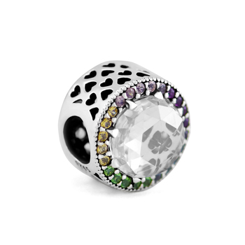 9837604fa002 Pandulaso amuleto de icono bendecido con CZ se adapta a la pulsera y  gargantilla de la joyería de ...