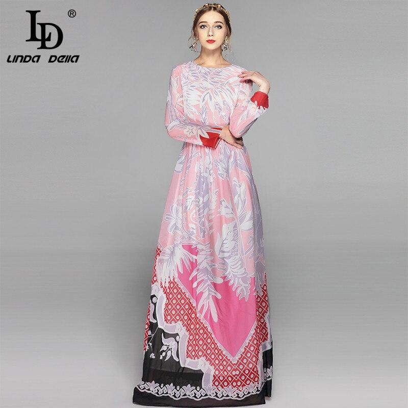 High Quality New Fashion Brand Maxi Dresses Long Sleeve Women Floor Length Boho Beach Splendid Floral