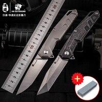 HX Высокое качество быстрый ответ начать ножи выживания Открытый Отдых EDC titanium ручка VG10 лезвие militaryl складной нож