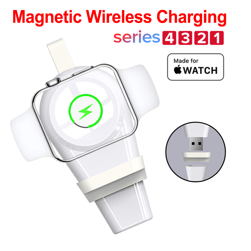New Design Wireless Charger For Apple Watch 4 Magnetic Charging USB Series 3 2 1
