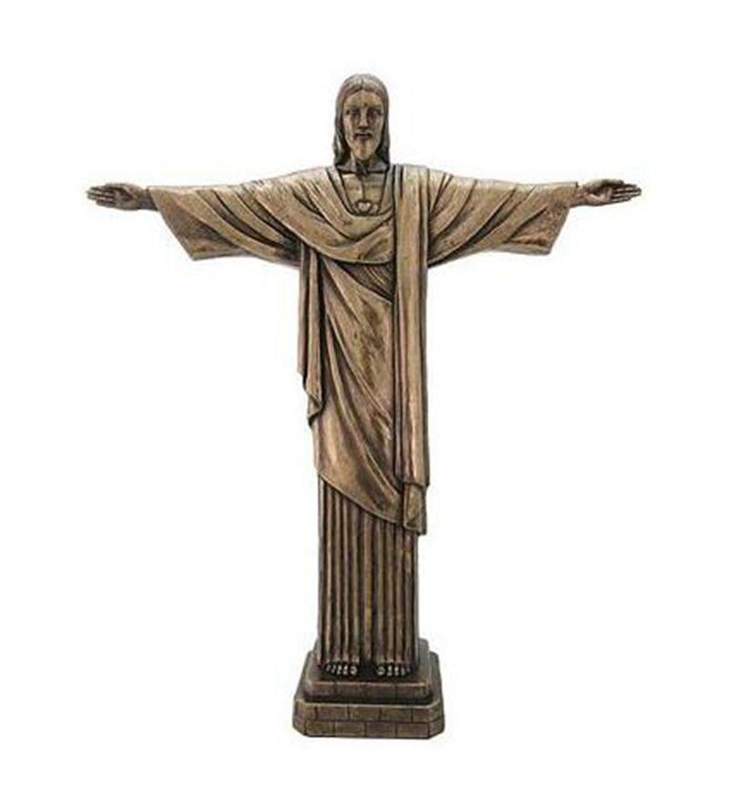 Vysoce kvalitní Kristus Spasitel Ježíš Svět Slavný orientační bod Kovový model Dekorace Řemesla Turistika Suvenýry Kolekce Dárky