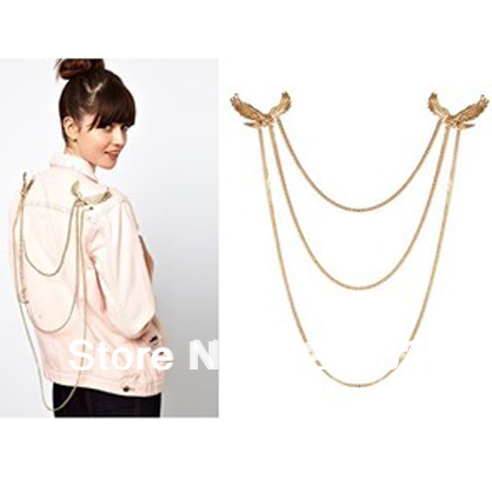 2013 fashion jewelry items bijoux rihanna gold chain Statement Eagle Collar Hawk Necklace