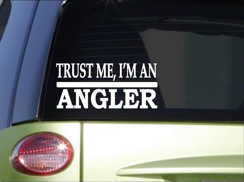 Faites-moi confiance Angler 8 pouces autocollant décalcomanie pêche basse tige bobine bateau net fenêtre autocollant