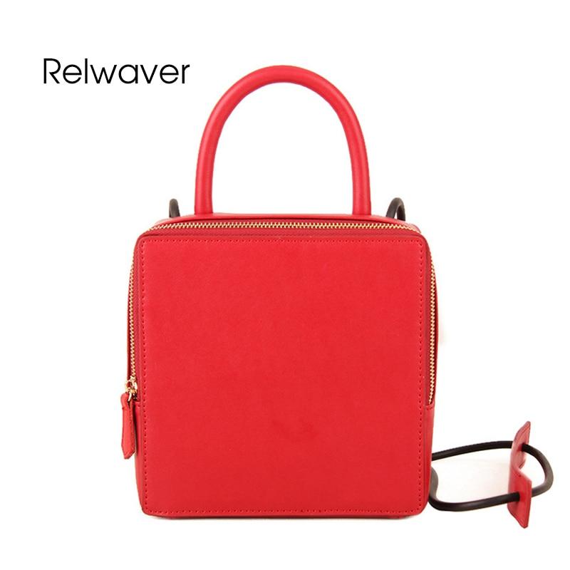 Relwaver cowhide split leather women's shoulder bag handbag crossbody casual fashion mini flap women messenger bags women bag