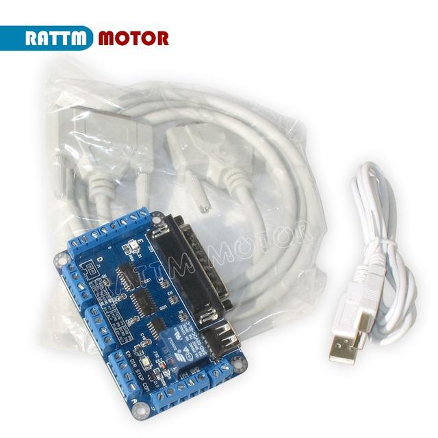 EU ship/free VAT 4 axis NEMA23 425 oz-in Dual shaft stepper motor CNC controller kit&256 microstep motor driver for CNC Router
