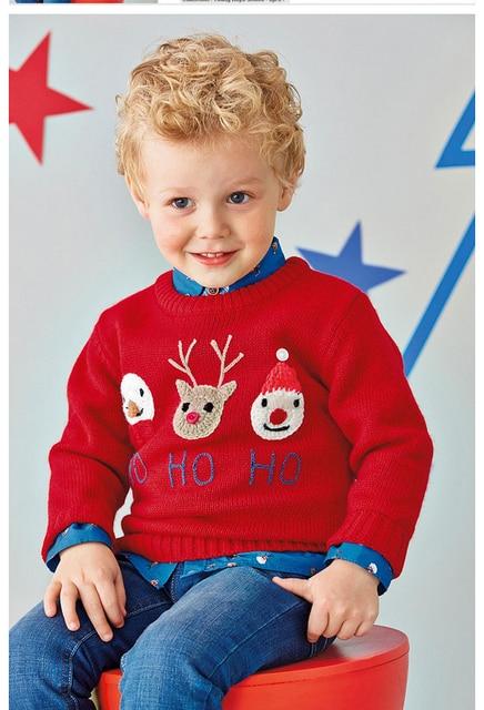 nouveau 2015 enfants pull angleterre style marque b b gar ons fille hiver o cou tricot de no l. Black Bedroom Furniture Sets. Home Design Ideas