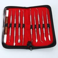 BRAND NEW 10PCS Wax Carving Tool Set Stainless Steel Versatile Kit Dental Instrument Dental Lab Equipment