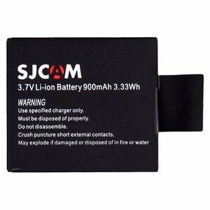 Image 3 - Originale 900 mah SJCAM SJ6000 SJ7000 batteria della macchina fotografica 2 + 1 pcs caricatore per DV SJ4000 SJ 4000 5000 6000 7000 HD 1080 P macchina fotografica di Sport