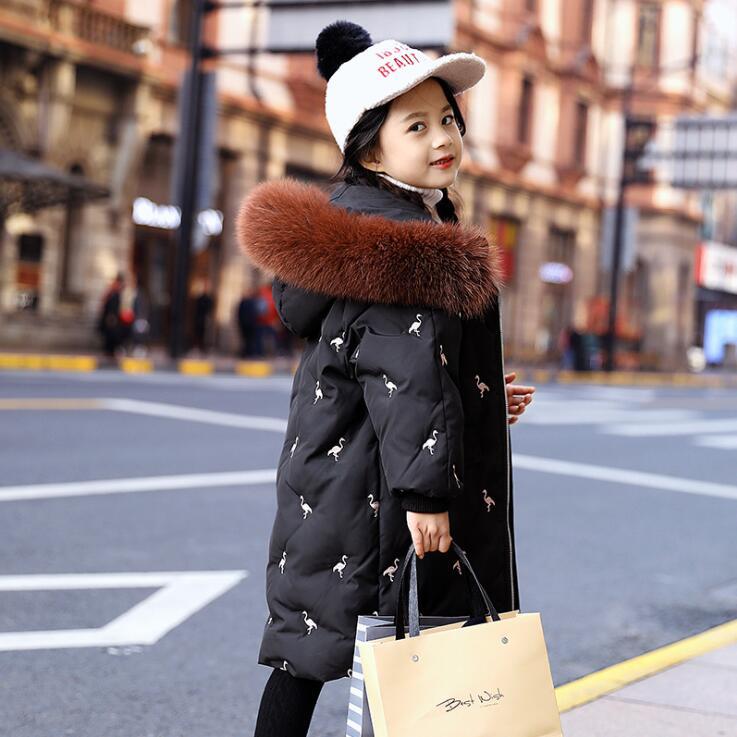 6-16 ans enfants manteau filles hiver canard doudoune rembourré enfants vêtements 2019 grandes filles vêtements chaud manteau vêtements d'extérieur fille