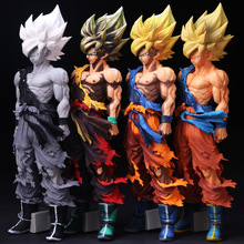 2017 New 34CM PVC Anime Dragon Ball Z Comics Super Saiyan Son Goku Action Figures Model Collection Educational Toys For Children