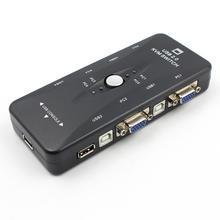 1pc 4 Ports USB 2.0 KVM Switch Mouse/Keyboard/Printer/VGA Video Monitor 1920x1440