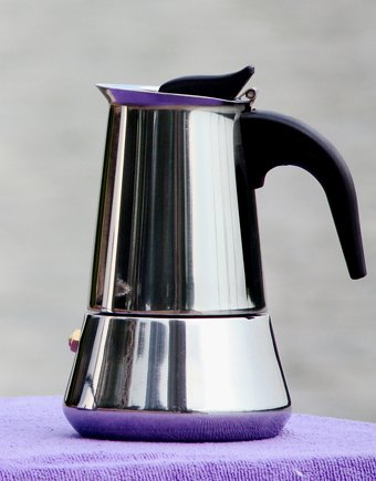 6cup Bialetti Inoxpran S Supplier Stainless Steel Italian Coffee Maker