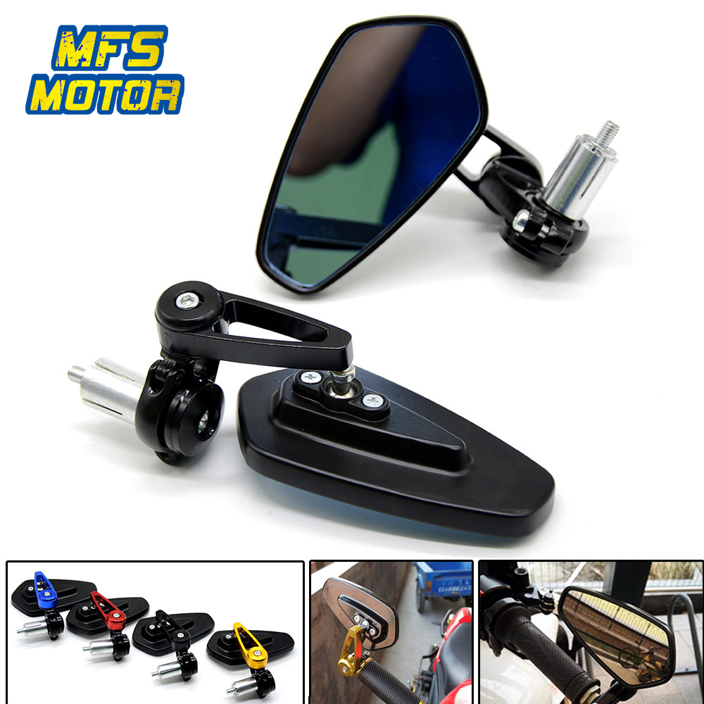 Universal 22mm 7/8 Motorcycle Bar End Rearview Mirrors For Kawasaki Yamaha Honda Suzuki BMW Ducati Aprilia Triumph Daytona 675 цена