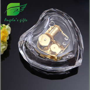 Clear Acrylic box Heart music box gifts for girls, valentines day birthday gift, wedding souvenir, home decor Angelas gifts