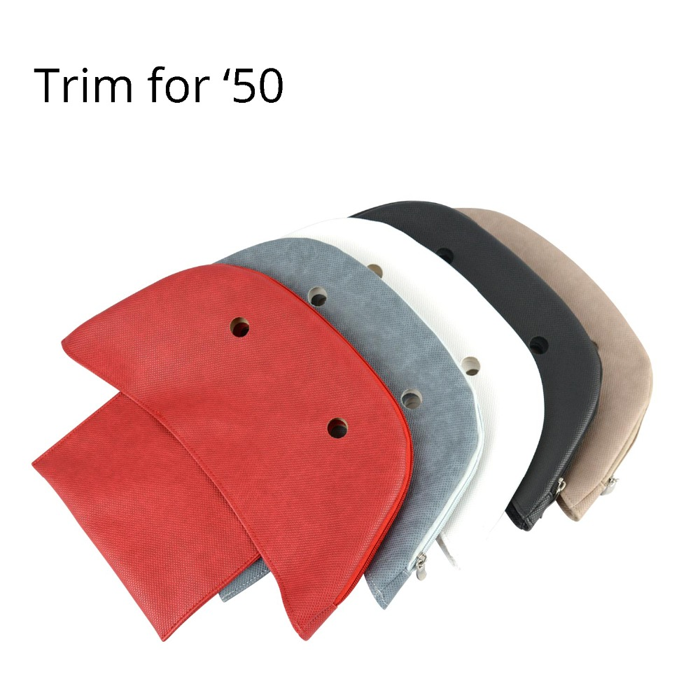 New Tanqu PU Leather Advanced Zipper-up Trim Street False Inner Lining Insert For O Bag 50 Women's Handbag Obag 50 Accessory